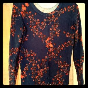 A New Day Navy Floral Cardigan (S)